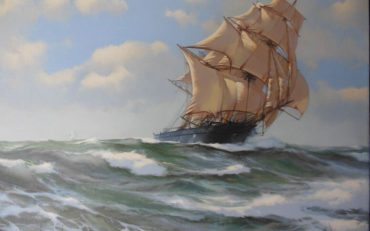 Bounding Home - The Clipper 'Fairlight' by James Brereton. Oil on canvas. 30 x 40 inches. Richard Joslin Fine Art.