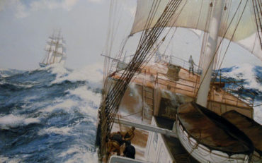 High Seas by James Brereton. Oil on board. 18 x 24 inches. Burlington.